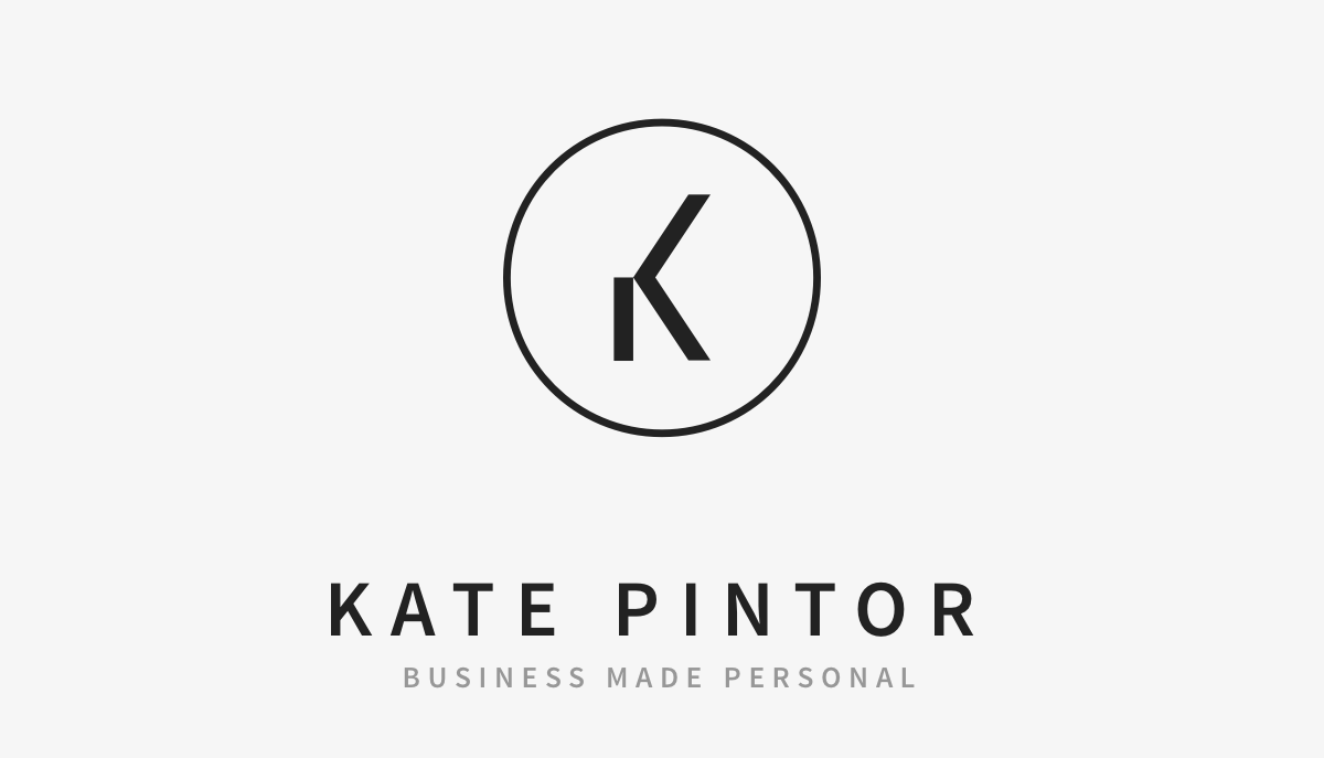 Kate Pintor Entrepreneurial Coach business card early iteration