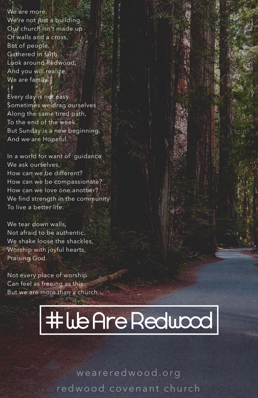 #weareredwood poster and poem