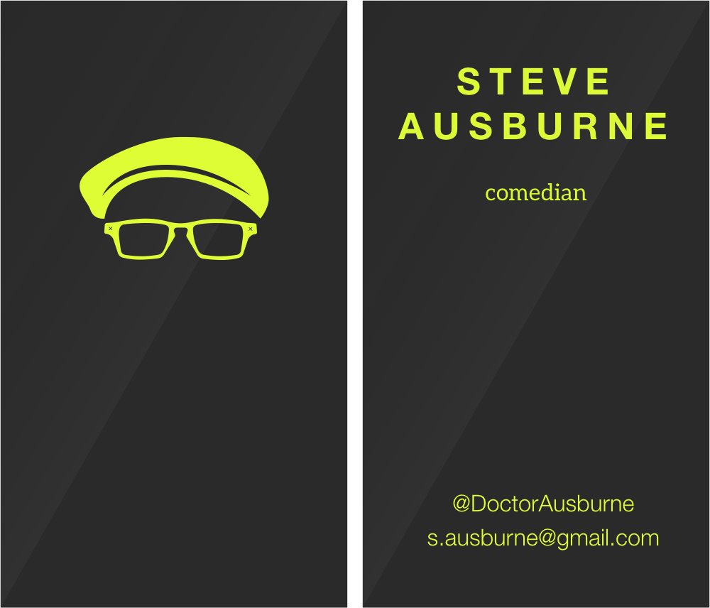 Steve Ausburne Comedian Business Card